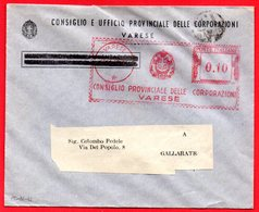 1942- VARESE REGNO BELLA EMA METER FREISTEMPEL AFFRANCATURA ROSSA - Affrancature Meccaniche Rosse (EMA)