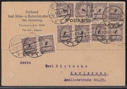 DR Karte Mef Minr.10x 325A Heidelberg 22.11.23 Geprüft - Germany
