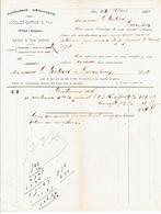 Facture De 1885 - ITTRE - JACQUET-SARTON & Fils - Papeterie Mécanique - Belgique
