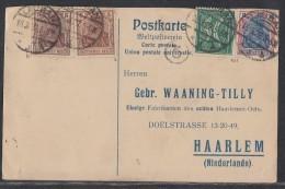 DR Karte Mif Minr.140a, 140b, 152, 162 Lauban 16.3.22 Geprüft Gel. Nach Holland - Germany