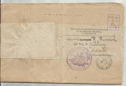 Taxe En Port Du De La Rochelle Pour Saintes Par Cachet Manuel - Marcophilie (Lettres)