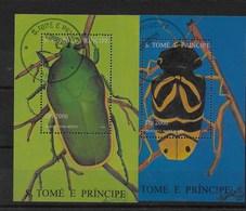 Hoja Bloque De Santo Tomé Nº Yvert HB-163AL/AM O INSECTOS (INSECTS) - Sao Tomé Y Príncipe
