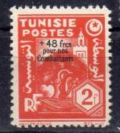 """Tunisie YT 268 """" Surchargé """" 1944 Neuf* - Tunisia (1888-1955)"""