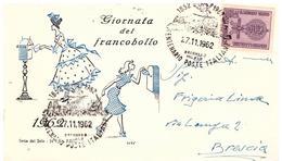 Fdc Serie Del Sole: GIORNATA FRANCOBOLLO ; No Viaggiata; AS_Centenario Poste Brennero Milano 1962 - 6. 1946-.. Repubblica
