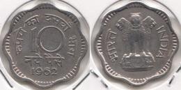 India 10 Naye Paise 1962 KM#24.2 - Used - Inde