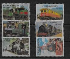 Serie De Santo Tomé Nº Yvert 1245B/G ** TRENES (TRAINS) - Sao Tomé Y Príncipe