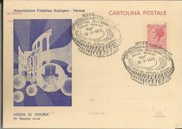 CARTOLINA POSTALE 53° FESTIVAL DELL'OPERA LIRICA  1975 VERONA -ASSOCIAZIONE FIL.SCALIGERA -FG - Manifestazioni