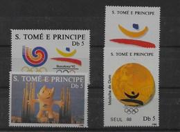 Serie De Santo Tomé Nº Yvert 931Q/T ** DEPORTES (SPORTS) - Sao Tomé Y Príncipe