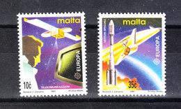 Malta - 1991.Europa. Telecom. Satellite, Televisore, Shuttle, Ariane.  Complete MNH Series - Telecom