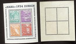 Schweiz Suisse NABA 1934 Paare Z19+Z21 Oder Z20+Z22 Aus Zumstein WIII-1 Michel Block Yv Paires Du 1 BF 1 ** MNH - Se-Tenant