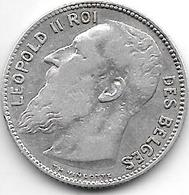 *belguim 1 Franc  Leopold II  1909 French  TH Zonder Punt(no Point) Vf - 1865-1909: Leopold II
