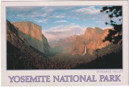 World Largest Monolith: El Capitan & Bridalveil Falls - Yosemite  National Park - California - (USA) - USA Nationale Parken