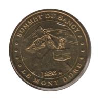 0184 - MEDAILLE TOURISTIQUE MONNAIE DE PARIS 63 - Sommet Du Sancy - 2010 - Monnaie De Paris