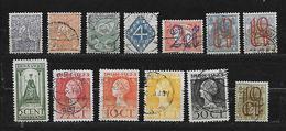 PAYS BAS 107 à 111/115/116/120/121/123/125/129 Oblitérés Rond - 1891-1948 (Wilhelmine)