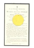 Faire-part De Décès De Mr. Auguste BOILEAU, Directeur Boulangeries De La C.A.V.  - ép. De A. Gérard - LIEGE  1934 (b243) - Décès