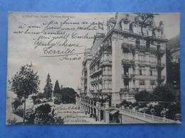 SUISSE-TERRITET-MONTREUX L'hotel Des Alpes , écrite Au Verso Et Circulée En 1913 - VD Vaud