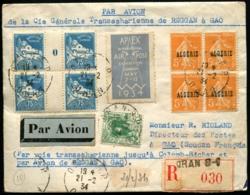 ALGERIE - Lettre Par AVION De La Cie Générale Transsaharienne De REGGAN à GAO - Affrt Comp. Obl ORAN 21/2/34 Pour GAO - Poste Aérienne