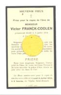Faire-part De Décès De Mr. Victor FRANCK - COOLEN LIEGE  1934 (b243) - Décès
