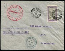 MADAGASCAR - Courrier Transporté Par Avion Militaire - C.S - Pli De DIEGO SUAREZ Pour TANANARIVE (1936) - TB - Madagascar (1889-1960)