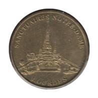 0216 - MEDAILLE TOURISTIQUE MONNAIE DE PARIS 65 - Sanctuaire Notre Dame Lourdes - Autres