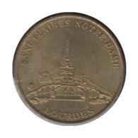 0217 - MEDAILLE TOURISTIQUE MONNAIE DE PARIS 65 - Sanctuaire Notre Dame Lourdes - Monnaie De Paris