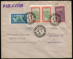 MADAGASCAR - 1ère Liaison Aéropostale MADIROVALO/MADIROVALO 26/3/38 - C.S - TB - Madagascar (1889-1960)