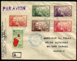 MADAGASCAR - Affrt Composé Obl TANANARIVE 16/3/39 Pour MAISON-CARREE (Algérie) Avec Arrivée - TB - Madagascar (1889-1960)