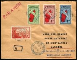 MADAGASCAR - Affrt Composé Obl Pour MAISON-CARREE (Algérie) - 1er Service 100% AIR-AFRIQUE 15/4/39 - C.S - TB - Madagascar (1889-1960)