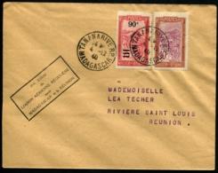 MADAGASCAR - 1er Essai De Liaison Aérienne Régulière MADAGASCAR Et La REUNION - C.S (1940) - TB - Madagascar (1889-1960)