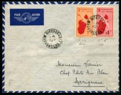 """MADAGASCAR - Affrt Composé PA N°4 Et 6 Obl """"DIEGO SUAREZ 21/NOV/40"""" Pour MARIGNANE - TB - Madagascar (1889-1960)"""
