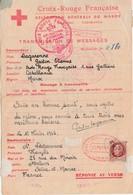 RARE Lettre Réponse 1943 / Croix Rouge Française Au Maroc / Casablanca / Message Pour Melun 77 - 1939-45