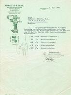 PARDUBITZ - PARDUBICCE (TCHECOSLOVAQUIE) - MELOTTE-WERKE - Milchseparatorenfabrik - Fabrique D'écrémeuses - Factures & Documents Commerciaux