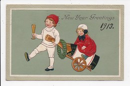 CPA NEW YEAR Greetings 1913  Champagne - Nouvel An