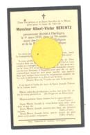 Faire-part De Décès De Mr. Albert-Victor BERENTZ - HARDIGNY ( Bastogne) 1935 (b243) - Décès