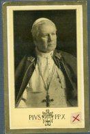 °°° Treviso - Immagine Pio X Al Verso Manoscritto Dell'arcivescovo Mons.longhin 4 Agosto 1934 °°° - Treviso