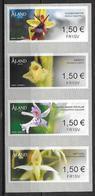 Aland  2018 Timbres De Distributeurs Orchidées - Aland