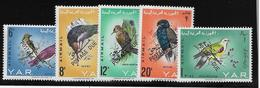 Yemen Poste Aérienne N°41/45 Surchargés Postage Due Taxe - Oiseaux - Neuf ** Sans Charnière -  TB - Yemen