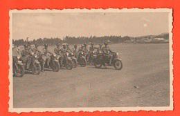 AOI Carabinieri Motorizzati Su Moto Guzzi Foto Di Gruppo Anni 30 - Guerre, Militaire