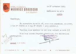 SOUVRET 1948 - Etablissements Maurice BRASSEUR - Belgique