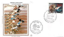 Fdc Filagrano Gold: EUROPEI ATLETICA 1992 ; No Viaggiata - 6. 1946-.. Repubblica