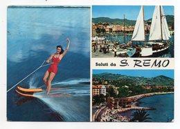 Italie -- SAN REMO--Saluti Da SAN REMO --multivues --port,plage,ski Nautique-- - San Remo