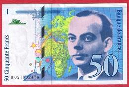 St Exupéry -  50 Francs 1994 -  état  TTB - 1992-2000 Aktuelle Serie