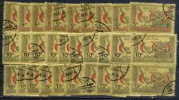 YEMEN ARAB REPUBLIC 1968, RED CRESCENT / CROISSANT ROUGE, 3 Valeurs X 10 Exemplaires.  Oblitérés / Used. R006 - Yemen