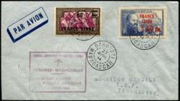 MADAGASCAR - 1er Vol COMORES/MADAGASCAR 27 AVRIL 1944 - C.S - TB - Madagascar (1889-1960)