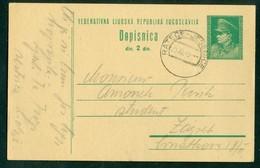 Yugoslavia 1949 Ambulance Railway Post Ratece - Jesenice Stationery Tito - 1945-1992 Socialist Federal Republic Of Yugoslavia