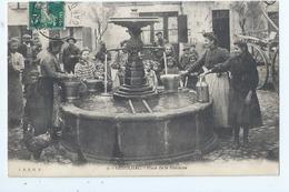 Cpa -   Dpt    - Gard   - Genolhac   -  - Place De La Fontaine    -   - Animation  -  ( Selection ) Rare 1910--1915 - France