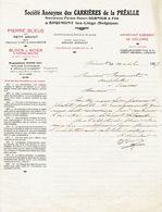 Lettre 1927 SPRIMONT-LEZ-LIEGE - CARRIERES DE LA PREALLE - Ancienne Firme Henri DERNIER & Fils - PIERRE BLEUE - Belgique