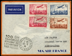FRANCE/AMERIQUE DU SUD - 100ème Traversée Aérienne De L'Atlantique Sud 19/7/36 - Affrt Composé + C.S - TB - Poste Aérienne