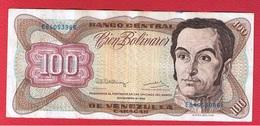 Vénézuela  -  100 Bolivares   8/12/1992 - Pick # 66  -état  TTB - Venezuela