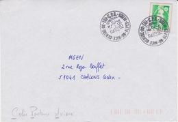 Lettre 1994 Oblitération TàD Manuel Centre De Tri 06 NICE CT CPA Colis Postaux Avion ALPES MARITIMES Sur Briat - Marcophilie (Lettres)